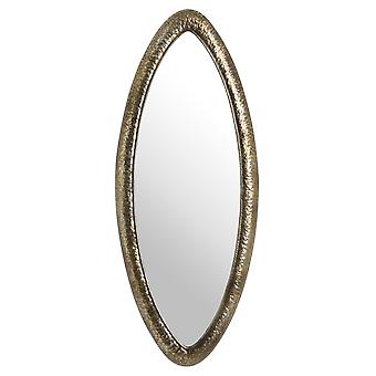 Hammered Bronze Oval Wall Mirror
