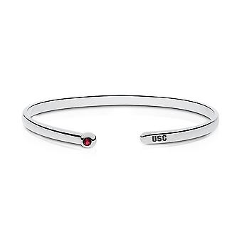 University Of South Carolina Engraved Sterling Silver Garnet Cuff Bracelet