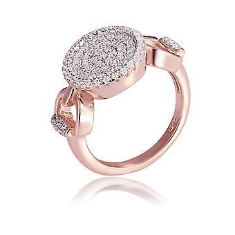 Orphelia zilver 925 ring Rose ronde met Zirkonium ZR-7420