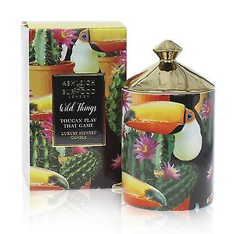 Ashleigh & Burwood Wild Things Luxus duftende Kerze Toucan Spielen Sie das Spiel - Mango & Nectarine
