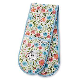 Cooksmart Country Floral Double Oven Glove