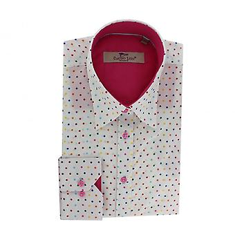 Claudio Lugli Womenswear Multi Coloured Polka Dot Shirt