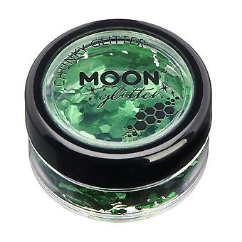 Classic Chunky Glitter by Moon Glitter – 100% Cosmetic Glitter for Face, Body, Nails, Hair and Lips - 3g - Green