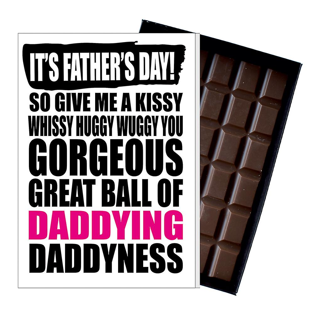 Funny Father's Day Gift Silly Chocolate Present Rude Card For Dad DADIYF131
