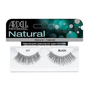 Ardell Natural 117 Siyah Kolay Tam Yanlış Göz Kirpikleri Uygulamak için