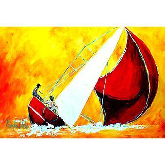 Carolines Treasures  MW1211PLMT Sailboat Break Away Fabric Placemat