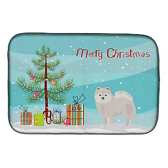 Carolines Treasures  CK3463DDM Japanese Spitz Christmas Tree Dish Drying Mat