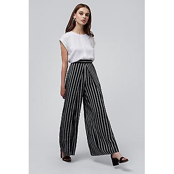 Louche Sibille Stripe Trouser Black