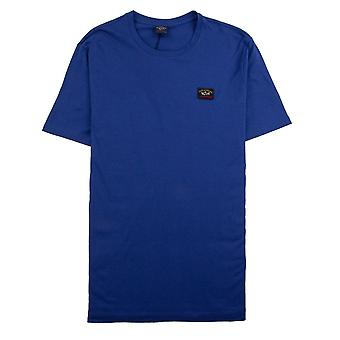 Paul e Shark Paul e Shark Crew pescoço logo T-shirt azul