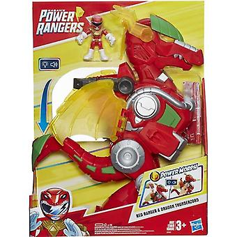 Power Rangers Red Ranger and Dragon Thunderzord