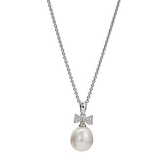 Adriana Collane Silver Woman 9-carat Zirconia cubic Pearls grown d'fresh water A57