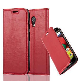 Cadorabo Case voor Motorola MOTO G2 gevaldekking-telefoon geval met magnetische sluiting, stand functie en kaart geval compartiment-gevaldekking geval geval Case boek vouwen stijl