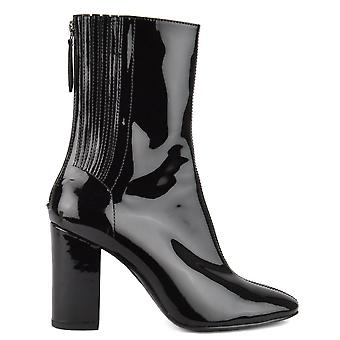 Ash JASMIN Heeled Boots Black Patent Leather