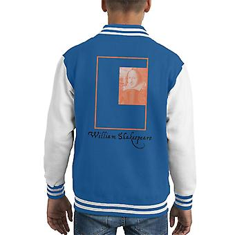 A.P.O.H William Shakespeare Box Portrait Kid's Varsity Jacket