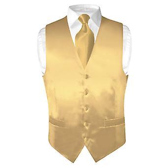Biagio mäns sidenklänning Vest & halsduk fast hals slips inställd