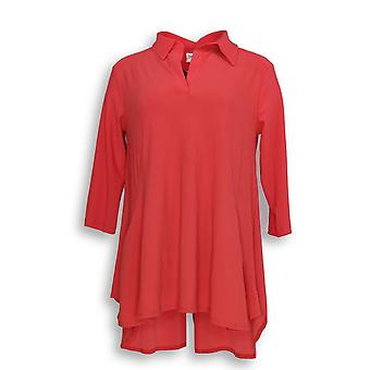 Women with Control Women's Petite Top Crepe Jersey Tunic Orange A290084