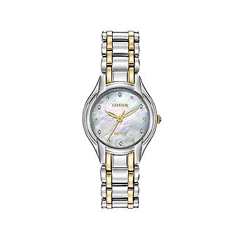 Citizen damer Eco Drive silhuet Diamond Watch EM0284-51D