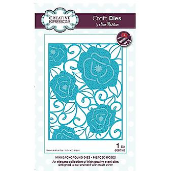 Expressions créatives CED7102 Mini fond Pierce Roses Dies