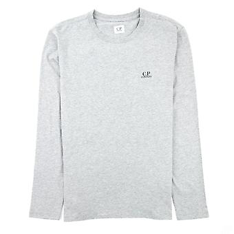 CP Company J Diamond Logo Langarm T-shirt grau M93