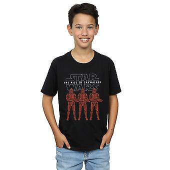 Star Wars Boys The Rise Of Skywalker Stormtrooper Colour Line Up T-Shirt