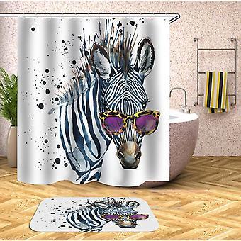 Zonnebril chique Zebra douche gordijn