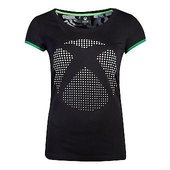 Microsoft Xbox dot logo T-shirt vrouwelijk klein zwart (TS556384XBX-S)