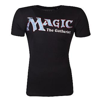 Hasbro Magic The Gathering Logo T-Shirt Homme Grand Noir (TS346421HSB-L)