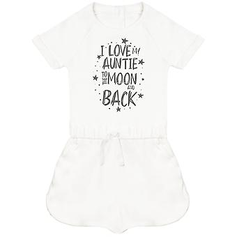 I Love My Auntie To The Moon And Back Baby Playsuit