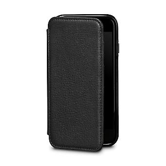 Case For iPhone 8 / IPhone 7 In True Leather Black Card Holder