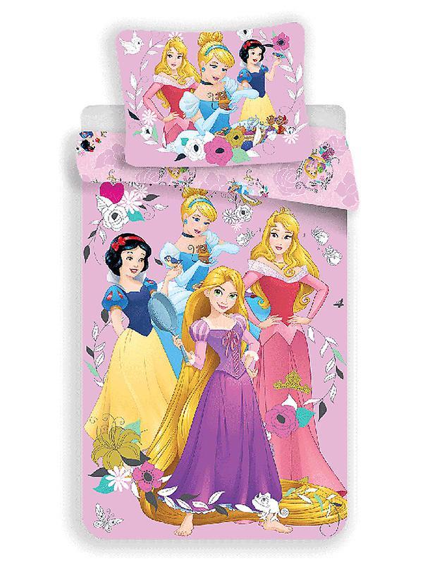 Disney Princess Pink Single Cotton Duvet Cover and Pillowcase Set