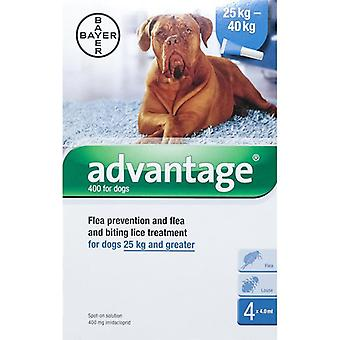 Advantage Blue Dogs Over 25kg (55lbs) - 4 Pack