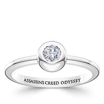 Vermoord 'apos; s Creed Odyssey Diamond Ring in Sterling Zilver ontwerp door BIXLER