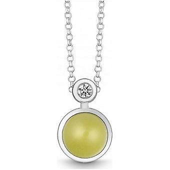 QUINN - Necklace - Silver - Gemstone - Lemonquartz - Wess. (H) - 27191948