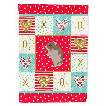 Carolines Treasures  CK5439CHF Dwarf Hamster Love Flag Canvas House Size
