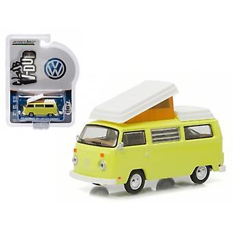 1974 Volkswagen Type 2 Bus (T2B) Westfalia Campmobile Yosemite Yellow 1/64 Diecast Model Car by Greenlight