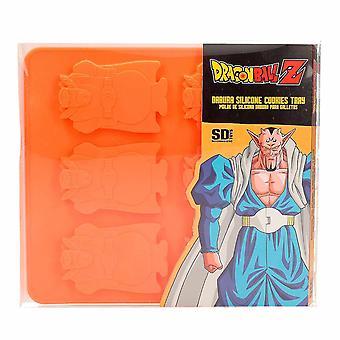 Dragon Ball Z plat de cuisson Dabura orange, fait de silicone 100%, dans un emballage transparent.