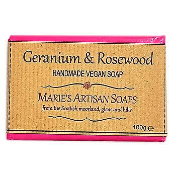 Marie's Artisan Soaps Handmade Vegan Soap 100g - Geranium & Rosewood