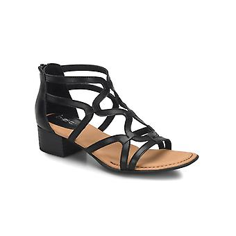 B.O.C Womens Pecan Leather Peep Toe Casual Ankle Strap Sandals