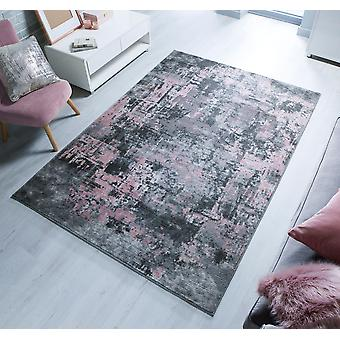 Cocktail Wonderlust Grey Pink  Runner Rugs Modern Rugs