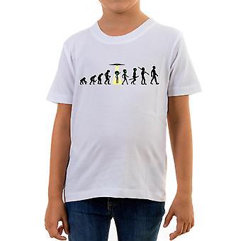 Reality glitch evolution of alien abduction kids t-shirt