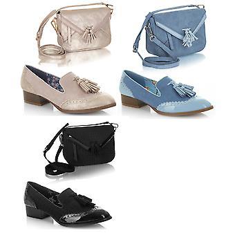 Ruby Shoo Women's Brooke Low Heel Loafers & Cancun Bag