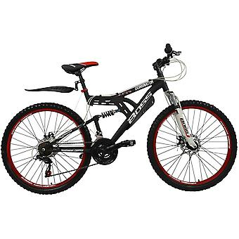 Boss Dominator 26 Inch Full Suspension Male Mountain Bike Black/Red Ages 12
