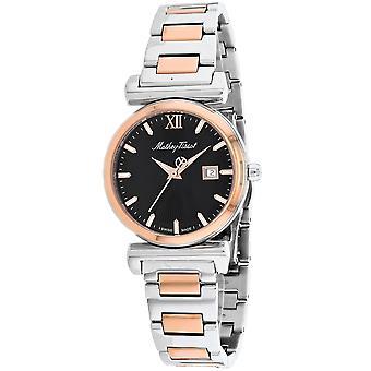 Mathey Tissot Women's Black Dial Watch - D410BN