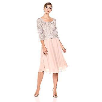Alex Evenings Kobiety's Cekin Lace Mock Sukienka (Petite, Szampan / Kość słoniowa, Rozmiar 16.0