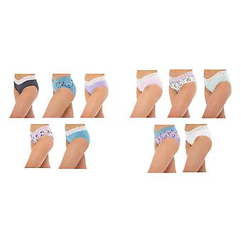Annucci Ladies/Womens High Leg Briefs (Pack Of 5)