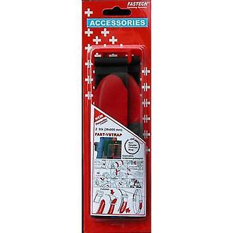 FASTECH® 690-330 Koukku- ja silmukkanauha hihnalla Koukku ja silmukkatyyny (L x W) 600 mm x 38 mm Musta, Punainen 2 kpl