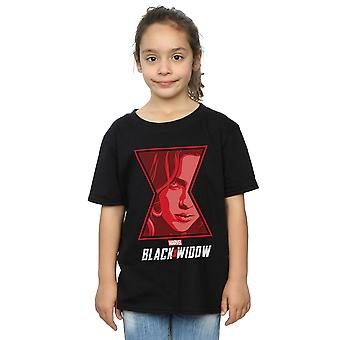 Marvel Girls Black Widow Movie Logo Window T-Shirt