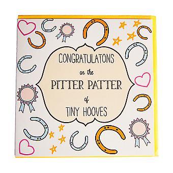 Gubblecote Pitter Patter Hooves Congratulations Card