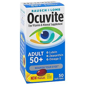 Bausch & lomb ocuvite adult 50+ eye vitamin & mineral, softgels, 50 ea