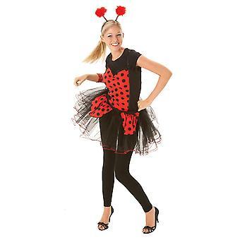 Bristol Novelty Womens / Ladies Ladybird Kostuum Baskische stijl Top